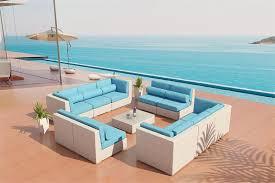 Eco Friendly Sectional Sofa Bellagio White Wicker Viro Fiber 21