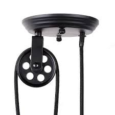 industrial pulley pendant light vintage edison industrial pulley pendant light adjustable wire