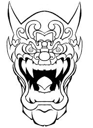 crazy outline crying devil mask tattoo design tattooimages biz