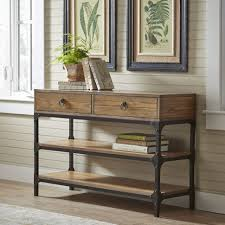 Rustic Hallway Table Console Tables Rustic Console Table With Storage Drawers Handy