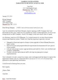 business analyst cover letter examples financial analyst cover