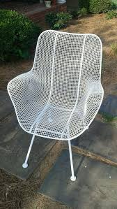 russell woodard sculptura arm lounge chair vintage wire mesh patio