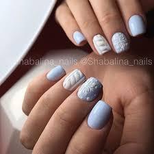 light blue and white matte nail art christmas winter holidays 2016