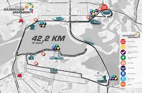 map of kazan kazan marathon may 20 2018 world s marathons