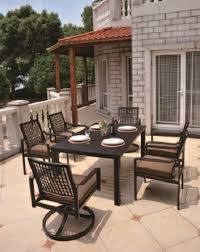 Bar Height Patio Set With Swivel Chairs Sherwood By Hanamint Luxury Cast Aluminum Patio Furniture 44