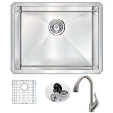 kitchen sink with faucet set anzzi kitchen sinks kitchen the home depot