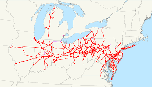 John Wayne Pioneer Trail Map Pennsylvania Railroad Wikipedia