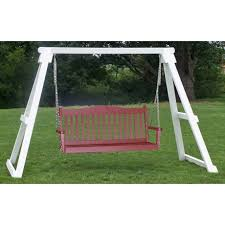 Patio Swing Frame by Amish Porch Swings U0026 Stands Pinecraft Com U2022 Amish Made Lawn