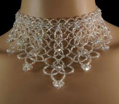 beads wedding necklace images 61 best beaded chokers images bead necklaces jpg