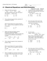 stoichiometry worksheet with answer key free worksheets library