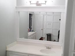 bathroom simple large bathroom mirror and white door lamp on wall