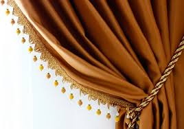 Yellow Faux Silk Curtains Production Gallery