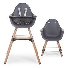 chaise haute chaise haute evolu en bois anthracite childwood pour enfant de 6