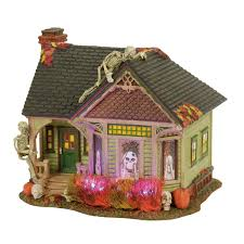 miniature halloween village department 56 villages wooden duck shoppe