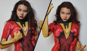 Dark Phoenix Halloween Costume Dark Phoenix Makeup Tutorial