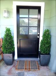 Glass Inserts For Exterior Doors Frosted Glass Exterior Door Stylish Black Front Doors Change Your