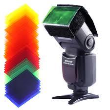 neewer 35pcs full color speedlite flash gel filter color balance