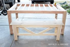 Ana White Farmhouse Table Bench Ana White Farm House Table And Benches Diy Projects Stylish