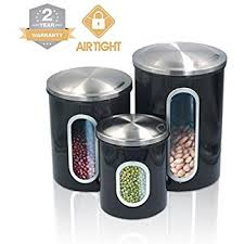 Kitchen Counter Canister Sets by Amazon Com Kitchen Food Storage Canister Set For Ideahome