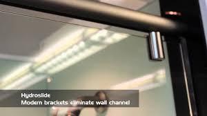 hydroslide modern sliding shower youtube