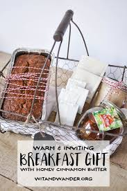 warm breakfast basket gift idea cinnamon butter sweet breakfast