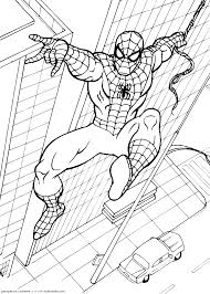 spiderman color pages funycoloring