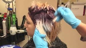 creating roots on blonde hair how to get purple violet root and silver hair color youtube
