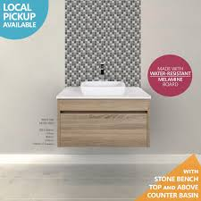 melamine bathroom cabinets ibiza 600mm white oak timber wood grain wall hung bathroom