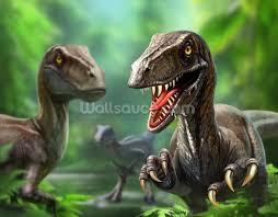 dinosaurs raptors wallpaper wall mural wallsauce usa dinosaurs raptors wall mural photo wallpaper