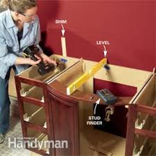 How To Install Vanity Cabinet Install A Vanity Sink Family Handyman