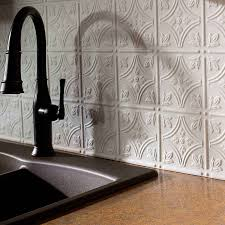 white tin backsplash 11191