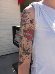 image result for half sleeve color traditional sleeve