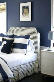 awesome queen size bed with navy blue headboard blankawesome uk