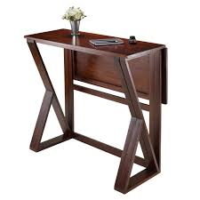 Dining Table Leaves Winsome Trading Harrington Drop Leaf Counter Height Dining Table