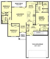 100 finished basement house plans front rendering rambler
