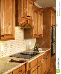 Kitchen Cabinets Free Luxury Model Home Honey Kitchen Cabinets Royalty Free Stock Image