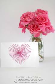 string art u0027s day card 5 minutes for mom