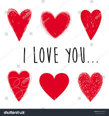 set red vector hearts on white stock vector 353808935 shutterstock