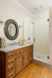 country bathroom with subway tile shower a white subway tile