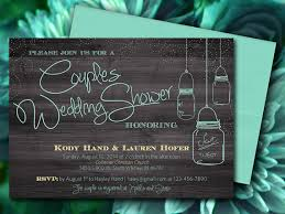 couples wedding shower invitations couples wedding shower jar wood bridal shower invitation