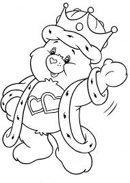 king love lot bear care bear colouring happy colouring