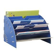 trieur papier bureau trieur vertical rangement étagère en bois dossier papier magazine