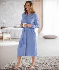 peignoir de chambre robe de chambre en velours manches longues myosotis femme damart