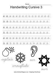 handwriting practice cursive 3 smart kids printables