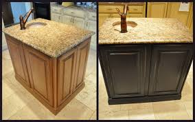 Painting Old Kitchen Cabinets Before And After Beautiful Painted Brown Kitchen Cabinets Before And After Amazing