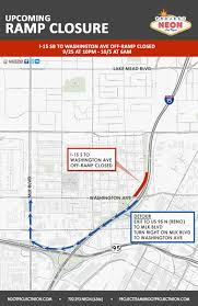 Las Vegas Traffic Map I 15 Washington Ave Off Ramp Closed Sept 25 U2013 Oct 5 In