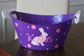 monogrammed easter buckets personalized easter basket plastic vinyl easter basket storage