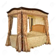 Four Poster Bed Curtains Drapes Old Vintage Four Poster Bed With Drapes And Curtains Isolated