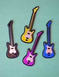 guitar cake topper electric guitar cupcake toppers ordered on etsy jam session