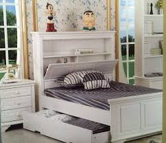 single bed with head storage plus trundle white goingbunks biz
